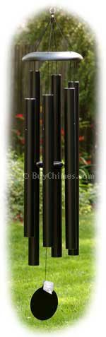 Corinthian Bells 836.  At 65 inches long, it is majestic and superior to all other CB chimes. Hand- tuned to the major scale of D#, the CB 836 is the deepest chime we sell.  Its deep, gong-like resonance will fascinate visitors to your garden....the tones and melodies are rich and full.  Like all Corinthian Bells chimes, the  tubes themselves are thick-walled, which means no harsh,  metallic noise.