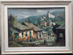 Durval Pereira, Ouro Preto, Óleo sobre tela. Med. 70x100. Assinado no C.I.D.