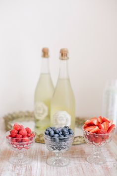 Berries and bubbly: http://www.stylemepretty.com/2014/07/08/15-ways-to-serve-up-bubbly/
