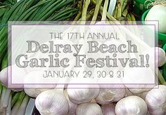 Don't Miss The Annual Delray Beach Garlic Festival! - Hitting Delray Beach next weekend is the famous Delray Beach Garlic Fest! This year marks the annual Garlic Festival and it is a celebrated event by locals and tourists alike. State Of Florida, South Florida, Boynton Beach Florida, Garlic Festival, Waterfront Homes For Sale, Juno Beach, Palm Beach Gardens, Palm Beach County, Delray Beach