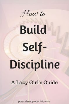 How to Build Self-Discipline (the lazy girl's guide) - Ponytails and Productivity If there's one thing CEOs, top athletes, and powerhouses across the world have in common, it's self-discipline. You can build it! Good Habits, Healthy Habits, Self Development, Personal Development, Leadership Development, Self Actualization, Frases Humor, Self Improvement Tips, Self Discipline