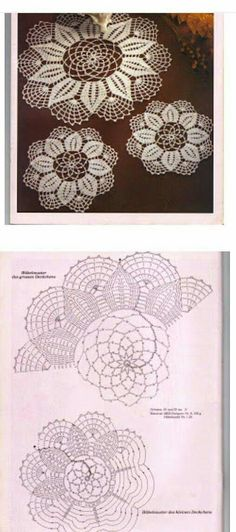 """Crochet Chart only. Crochet Doily Diagram, Crochet Doily Patterns, Crochet Mandala, Crochet Chart, Thread Crochet, Filet Crochet, Irish Crochet, Crochet Motif, Crochet Stitches"