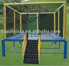 This trampoline would be fun to have in my backyard- I want a 10ft by 10ft one