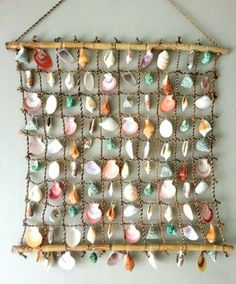 Do it yourself ideas and projects: 50 Magical DIY Ideas with Sea Shells Sea Crafts, Nature Crafts, Diy And Crafts, Seashell Projects, Driftwood Crafts, Seashell Art, Seashell Crafts, Diy Projects To Try, Craft Projects