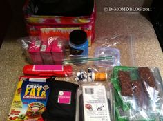 Diabetes school supply kit, car kit, babysitters kit etc.