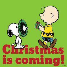 Christmas is coming! #Schulz #Snoopy #Charlie Brown #Christmas