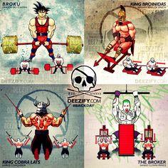 back exercises: goku deadlift, lat rows, w-pulldowns, joker lat pulldowns