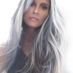 Hairstyles For Women Over 60 Long Silky Soft Gray