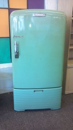 Crosley Shelvator Vintage Teal Green Refrigerator Antique Parts Restore Project
