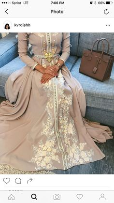 Engagement dress idea. Moroccan Kaftan