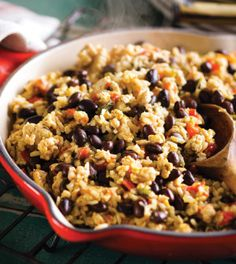 Cuban-Style Rice & Beans with Turkey