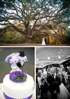 Okay, this wedding is beautiful in everyway. Click through and look at all the pictures <3