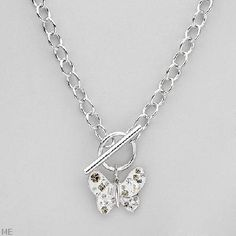 $95.50 Crystal Sterling Silver Necklace