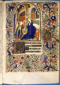 Bodleian, ms Douce 80, fol. 36r, France, Heures à l'usage de Paris, XVe s., texte : Matines (Heures de la Vierge)