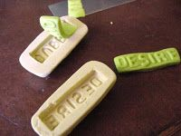 Art from my Heart: Making word molds