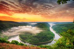 River Saar, Germany.
