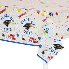 """Class Of 2013"" Graduation Table Cover - OrientalTrading.com"