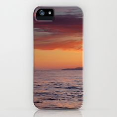 Red sunset iPhone & iPod Case by Guido Montañés - $35.00