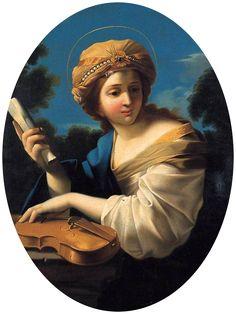 Saint Cecilia by Giovanni Francesco Romanelli ~ 1650