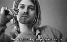 Find images and videos about grunge, nirvana and kurt cobain on We Heart It - the app to get lost in what you love. Kurt Cobain Frases, Nirvana Kurt Cobain, True Words, Rock Tumblr, The Beatles, Frances Bean Cobain, Donald Cobain, Saddest Songs, Foo Fighters