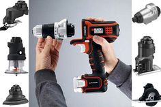 "DIY, Home Improvement Gift Idea: Black & Decker Matrix Tool System-- like a ""pocket knife"" of tools"