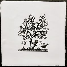 Not a book plate - but would make a great one: Paul Bommer tile design - FigTreeCourt