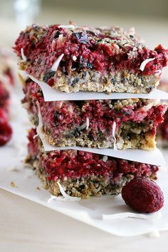 Raspberry Fig Bars Recipe Vegan, refined sugar free, gluten free