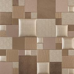 Mosaic Essentia CHAMPAGNE TWIST NappaTile™ Faux Leather Wall Tiles by Concertex