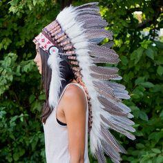 Pearl Indian Headdress - 95cm – Indian Headdress - Novum Crafts