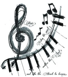 Music, calms the mind, soothes the soul, and lifts the heart to heaven.