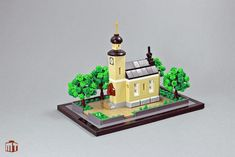 A very pastoral scene by Jens Ohrndorf that would make a lovely place to visit. Lego Tree, Cool Minecraft Houses, Minecraft Buildings, Micro Lego, Lego Club, Lego Moc, Lego Lego, Lego Games, Lego Castle