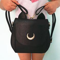 Luggage & Bags 2016 Luxury Brand Girl Cute Samantha Vega Sailor Moon Backpack Luna Cat Schoolbag Sailor Moon Women Leather Backpack Bookbag High Safety