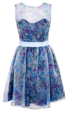 Miss Selfridge Sheer Floral Dress
