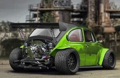 Volkswagen Beetle Now that's a Beetle worth owning!Now that's a Beetle worth owning! Volkswagen New Beetle, Beetle Car, Combi Wv, Kdf Wagen, Vw Mk1, Baja Bug, Beach Buggy, Vw Cars, Modified Cars