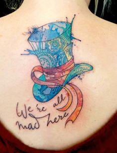 Chronic Ink Tattoo - Toronto Tattoo  Custom mad hatter hat tattoo done by Tegan.