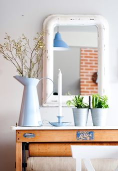 Blue enamel, Ib Laursen, Minty House,spring