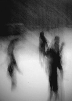 I like this picture because the figures are all very vague and blurry. It's up to the viewer to interpret the photo. Motion Photography, Dark Photography, Abstract Photography, Black And White Photography, Creepy Photography, John Batho, Arte Dope, Pinhole Camera, Arte Horror