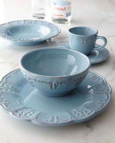 Four Fleur-de-Lis Soup Bowls & Italian Earthenware Dinnerware | Manor Home u0026 Gifts - Online Store ...