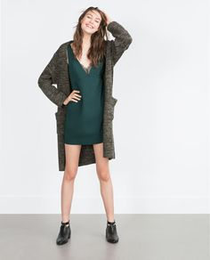Discover the new ZARA collection online. The latest trends for Woman, Man, Kids and next season's ad campaigns. Zara New, New Green, Zara United States, Green Lace, Outfit Goals, Everyday Outfits, Night Out, Lace Dress, Detail