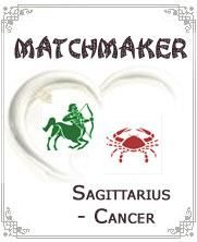 Cancer and Sagittarius:-Cancer and Sagittarius pair is little difficult and need patience to keep it alive. They both show some significant differences and sometimes similarities in their behaviors and personalities too. Cancer person looks for stable life while Sagittarius person looks for frequent changes and excitement. If they can give some time for each other than they would enjoy joyful moments with each other...