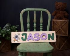 Wooden Name Puzzle Personalized Toy Gift by WoodenBabyPuzzle Name Puzzle, Puzzle Logo, Fun Games For Kids, Indoor Activities For Kids, Diy For Kids, Jigsaw Puzzles For Kids, Wooden Puzzles, Wooden Names, Toddler Learning