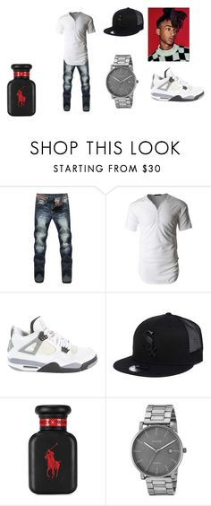 """Bryan Shacklebolt- The Kids Aren't All Right"" by pepper2good4u on Polyvore featuring LE3NO, Jordan Brand, New Era, Ralph Lauren, Skagen, men's fashion and menswear"