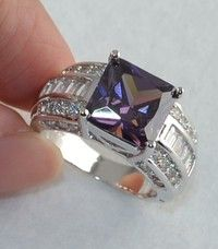 Wish | Noble Women Amethyst Gemstones 925 Sterling Silver Ring