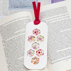 DIY patchwork papercut bookmark @molliemakes