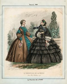 le moniteur de la mode | Le Moniteur de la Mode, March 1858. LAPL Visual Collections.