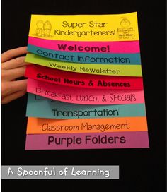 EDITABLE Parent Handbook Flip Book!
