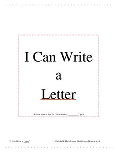 Thank you for downloading my FREE I Can Write a _______________ lesson! Be on the lookout for the entire I Can Write a _______________ lesson pack! The complete pack will have I Can Write a Letter, I Can Write a Narrative, I Can Write a Poem, I Can Write an Opinion Piece, and I Can Write a Research Paper!These lessons are made to compliment your teaching plans and make for great inserts in your child/students notebooks, folders, and/or portfolios.