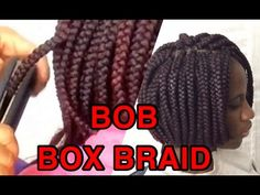 HOW TO /BOB BOX BRAIDS /using a straightener to seal the tip - https://www.avon.com/category/bath-body/hair-care?repid=16581277 Shop Hair Care Products  A tutorial on how to make box braids and how I seal the tip with a straingthener before cutting. Video Rating:  / 5  Being natural and being away at college causes me to do my own hair fairly often. Protective styles definitely come in handy and braids are my favorite! This is the rubberband method my sister (and hairstylist)