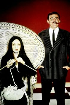 Morticia & Gomez Addams.  Pinning this the day before Halloween!  Seems appropriate.