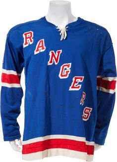 1974-76 Brad Park Game Worn New York Rangers Jersey.... Hockey  e0809098c